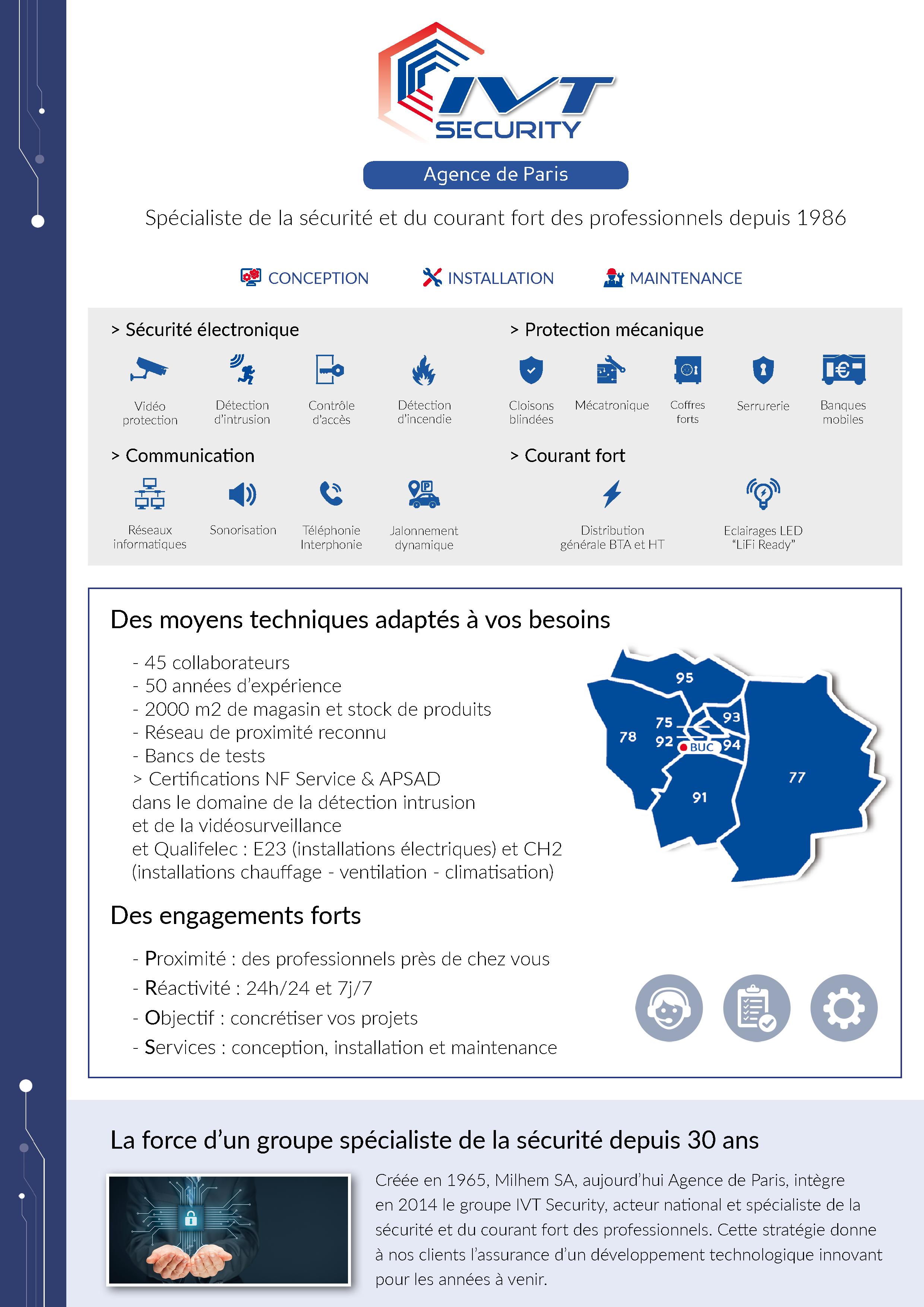 Plaquette - Agence de Paris